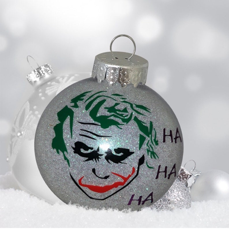 Joker Christmas Ornament.Personalized Custom Unique Joker Christmas Ornaments Joker Tree Bulb Villain Ornament