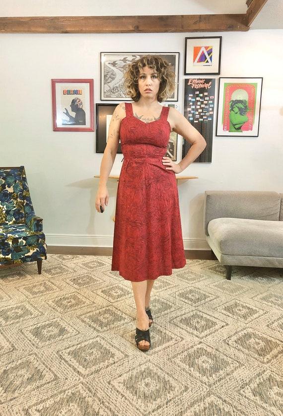 Novelty Print 50s Dress