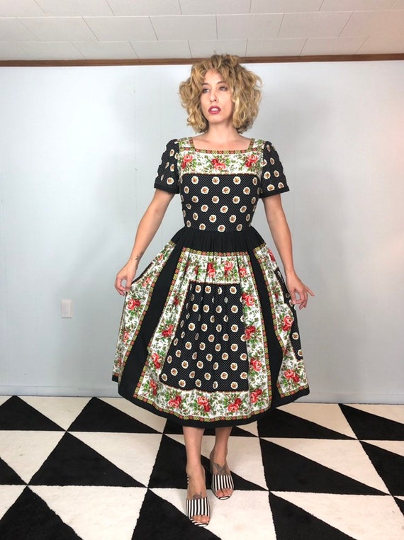 Novelty Print 50s Dress