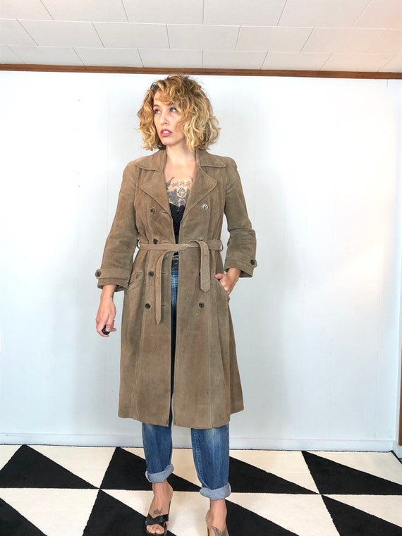 Suede Long 70s Jacket