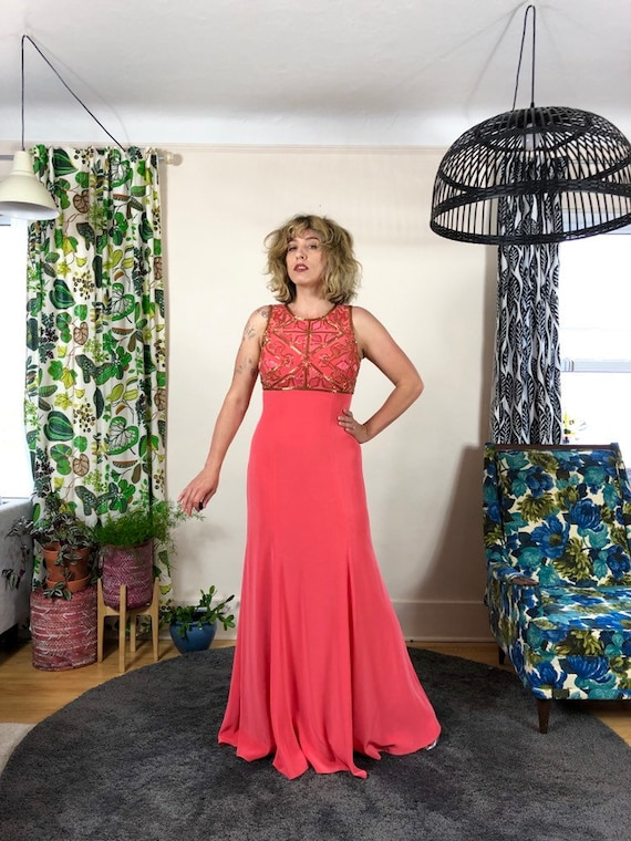 B'Zar Beaded Embroidered Gown