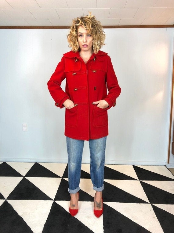 1940s Chippewa Red Wool Coat