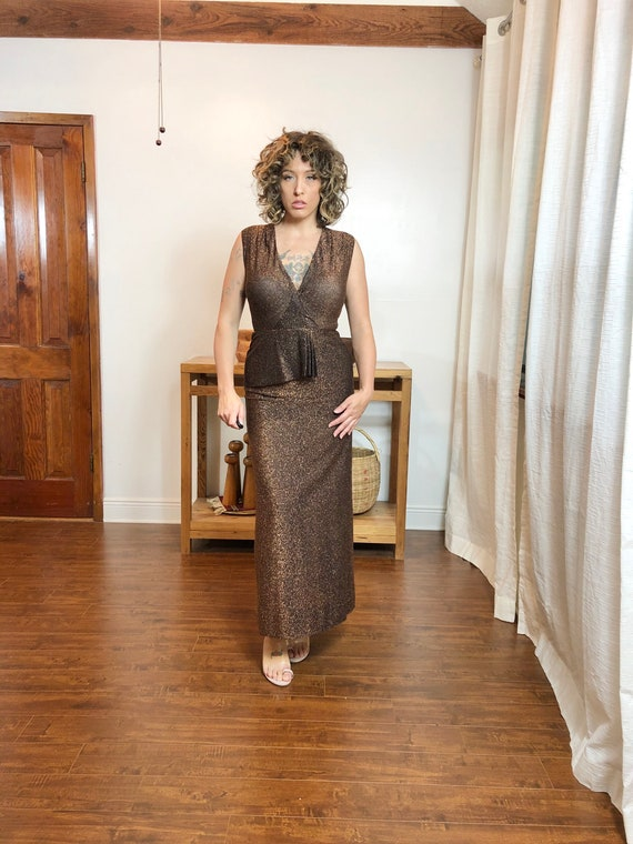 Bombshell Lurex Vintage Gown