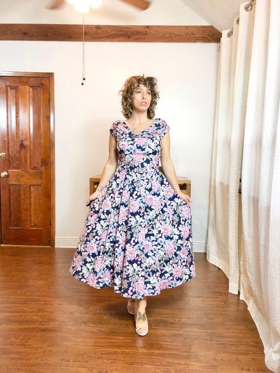 90s Jessica McClintock Floral Dress