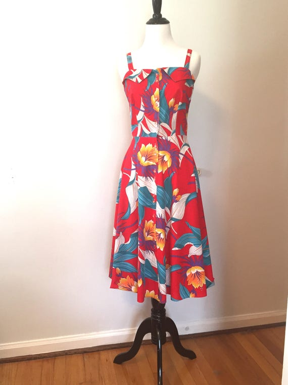 Red 70s Sundress