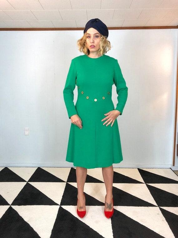 Day Glo Green Mod Dress