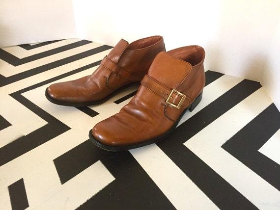Bally Tan Beatle Boots sz8