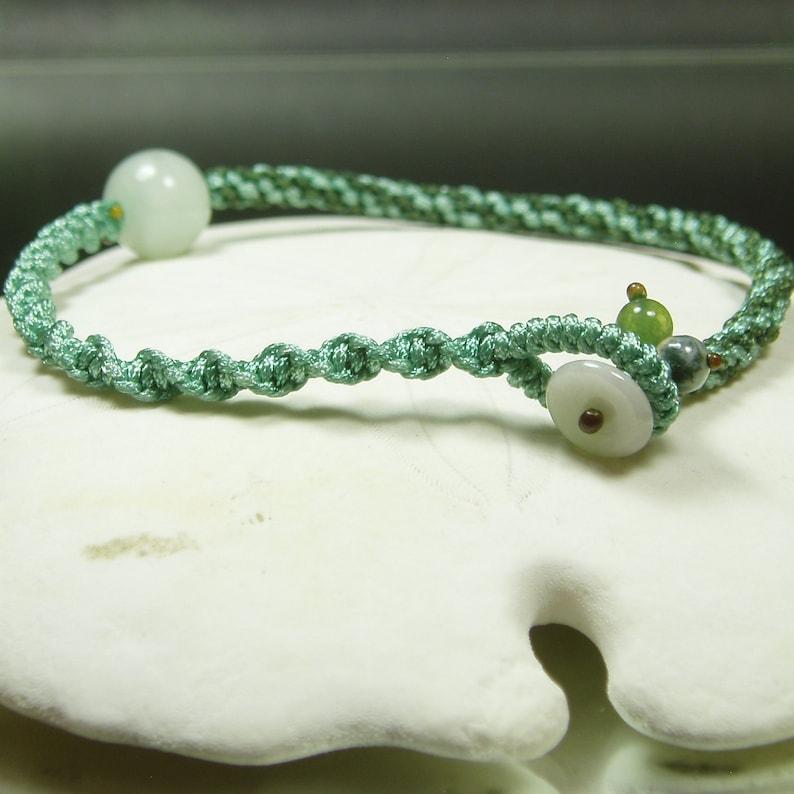 Hand Knot Jade Bracelet Genuine Jadeite Jade Hand Knot Art Jewelry Natural Jade Agate Simple Knot Bangle