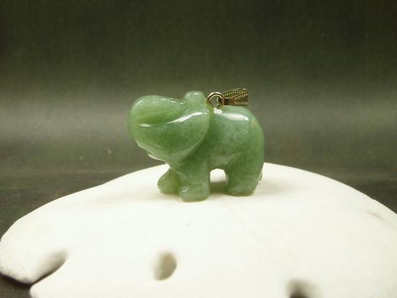 Jade elephant pendant carved jade elephant necklace lucky aloadofball Gallery