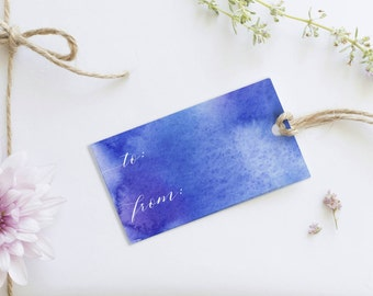 Printable watercolour gift tags
