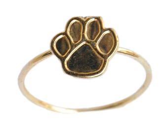 PAW Handmade Brass Gold Ring