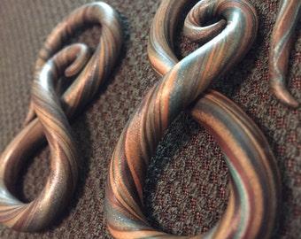 Infinity Spiral Gauged Earrings- 6g