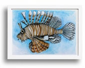 Lionfish watercolor print...