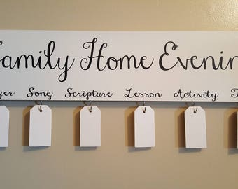 Family Home Evening Board, Family Night-Eggshell Boards
