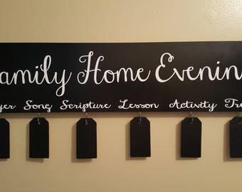 Family Home Evening Board, Family Night-Black Board