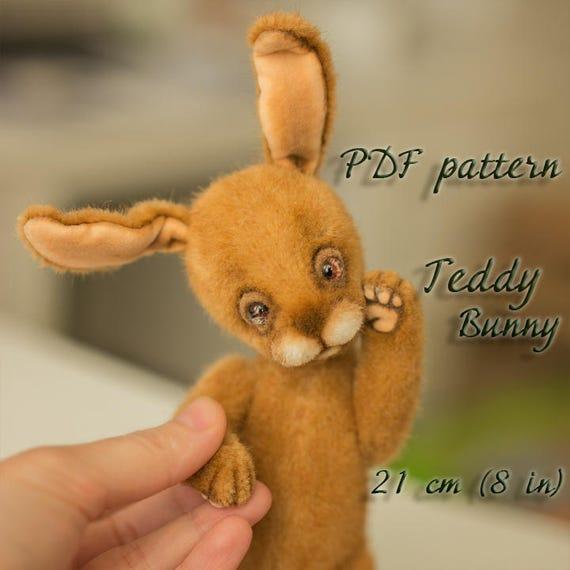 artist cute easter teddy bunny rabbit pattern teddy bunny etsy