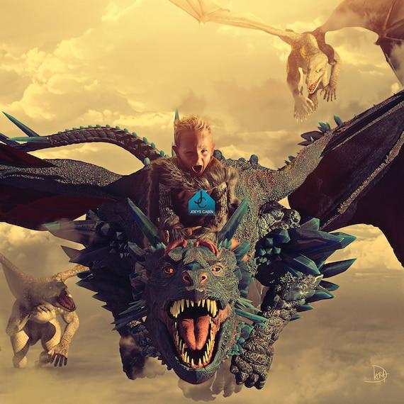 Game Of Thrones Dragon Background Digital Backdrop Premium Etsy