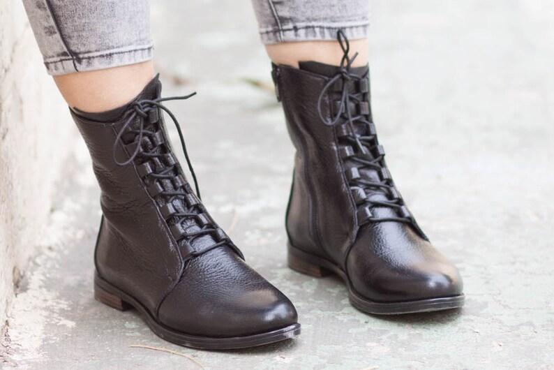 9c41c60a1 Botas botines de cuero cuero tobillo botas botas planos