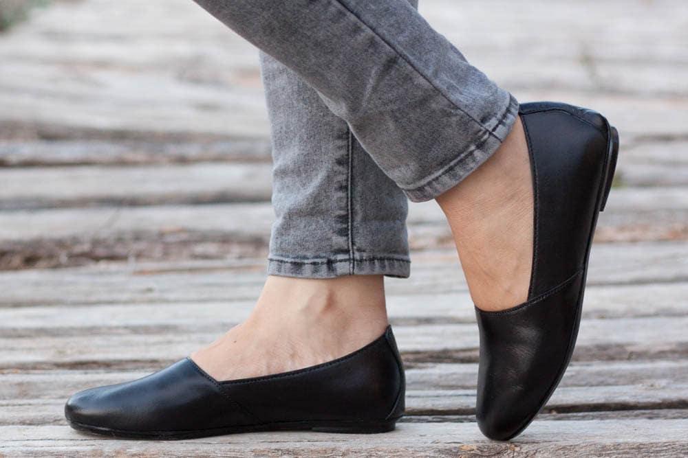 le cuir des des cuir chaussures noires, des chaussures noires, des mocassins, des chaussures plates, noir glisse ons, la livraison gratuite 19d65c