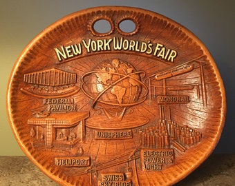 Rare 1960s New York World's Fair wall hanging presented by United States Steel