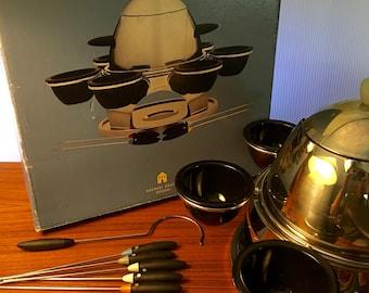 Michael Graves 18/10 stainless steel 21 piece fondue set in original box