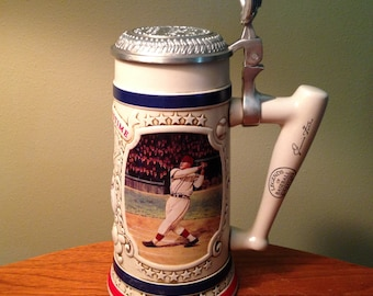 "Vintage ""Jimmie Fox: The Beast"" Legends of Baseball Signature Series Tankard stein with lid"
