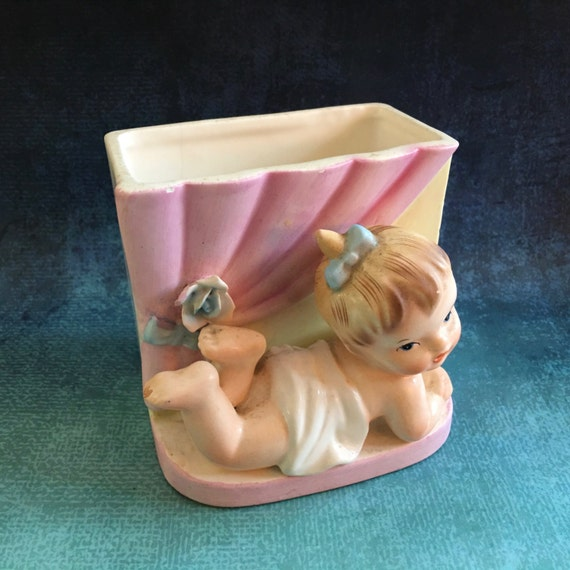 Vintage Napco 1961 Baby Vase Or Planter Made In Japan Etsy