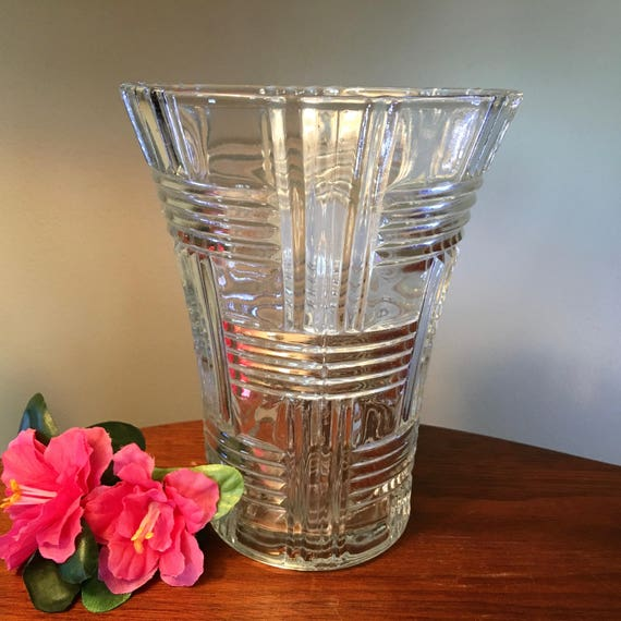 Vintage Anchor Hocking Prismatic Criss Cross Clear Glass Etsy