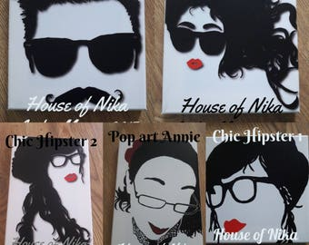 Original Art Canvas Prints (variety to choose from) Hipster Art