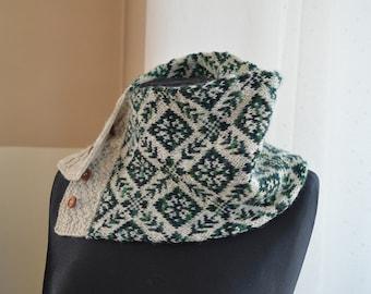 Fair Isle Shawls , made in all natural wool.