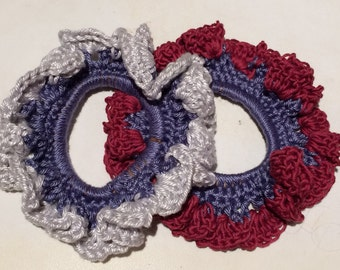 Crochet Scrunchie. Hair Tie. Crochet Ponytail band.