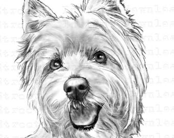 Westie clipart | Etsy