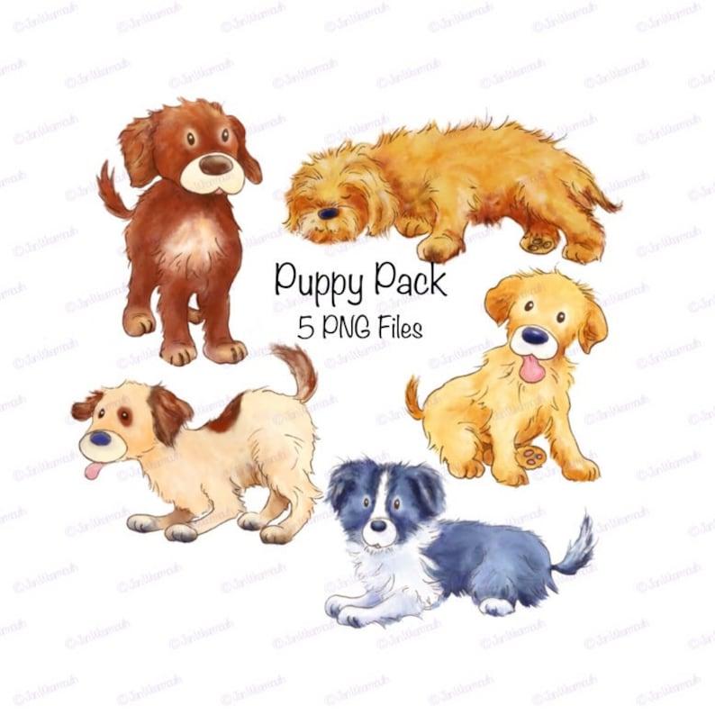 Cute Puppy Nursery Decor Printable Clipart Digital Art Download Dog Clip Animal