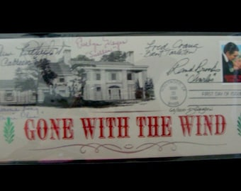 Gone with the Wind Signed Stamped Envelope Autograph
