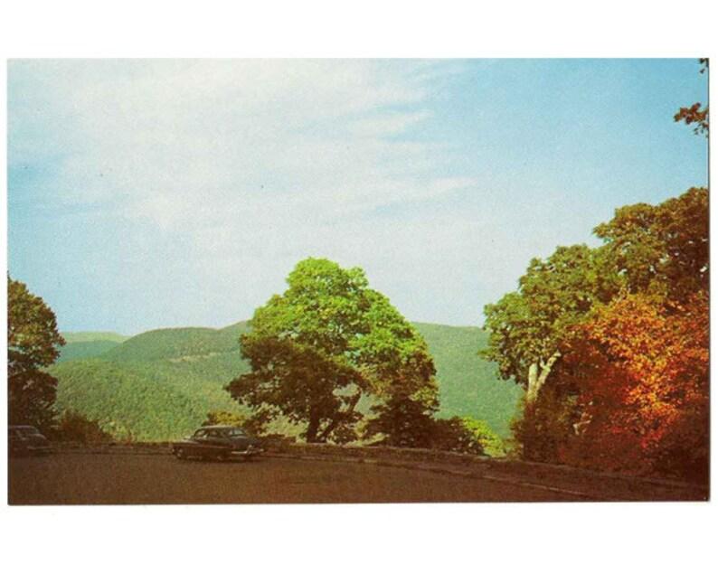 1960s VA travel postcard Blue Ridge Parkway mountain decor Skyline Drive Virginia vintage postcard Shenandoah National Park postcard