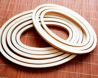 Large Wooden Craft Hoops Crafting