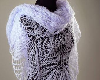 Grey Shawl,Wool Shawl,Mohair Shawl,White Shawl,Bridal Shawl,Party Scarf,Handmade Shawl,Wedding Shawl,Women Accessories,Knitted Shawl