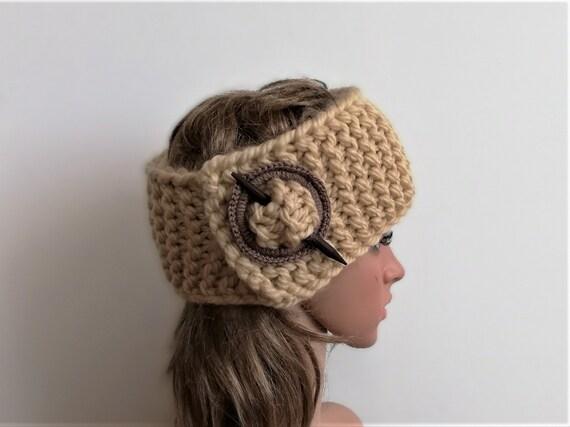 Beige stricken Winter Stirnband stricken und   Etsy