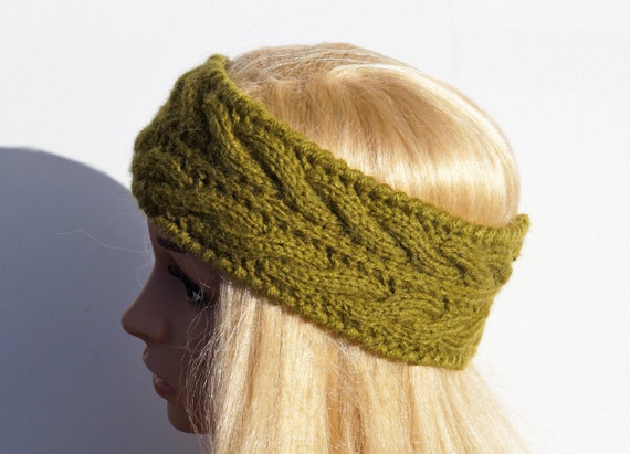 Grün Ohr wärmer stricken Winter Stirnband stricken und   Etsy