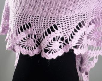 Purple Shawl,Wool Scarf,Wool Shawl,Mohair Shawl,Bridal Shawl,Party Scarf,Handmade Shawl,Wedding Shawl,Women accessories,Knitted Shawl