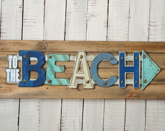 Rustic Wood Beach Signs House Decorations