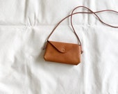SECONDS SALE - Small Envelope Crossbody Bag - minimal leather shoulder bag