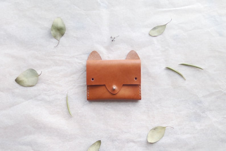 Fox Wallet  simple leather cardholder image 0