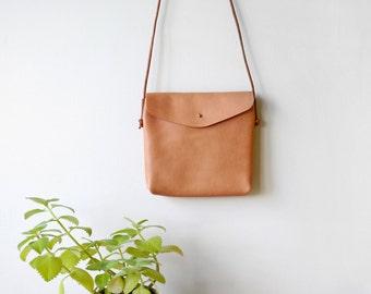 Large Crossbody Bag - leather hand-stitched shoulder bag