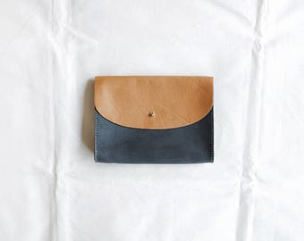 SECONDS SALE - Oversized Clutch - large leather carry-all clutch