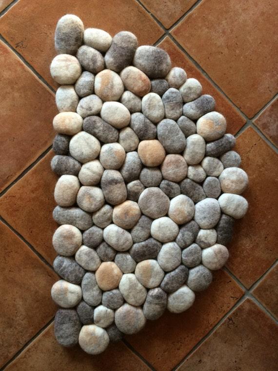 Felt Stone Rug Bath Mat Super Soft With Soft Core Half
