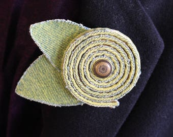 Denim Green Brooch