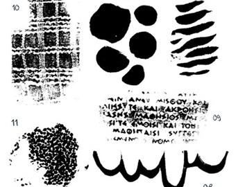 Digitale stempels serie 02 6 stuks