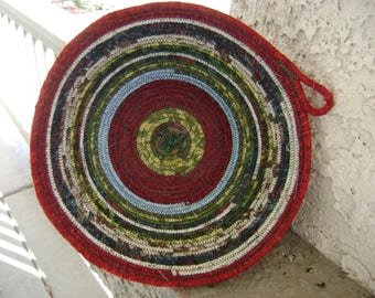 Large Scrappy Coiled Bowl # 206
