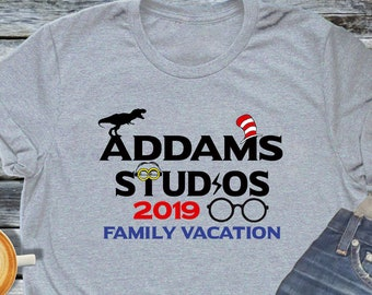 3a2ed304 Family Vacation Theme Park Shirt Personalized Tee with Name Universal Trip  Vacation Studios Orlando Matching Shirt Sets Jurassic Hat